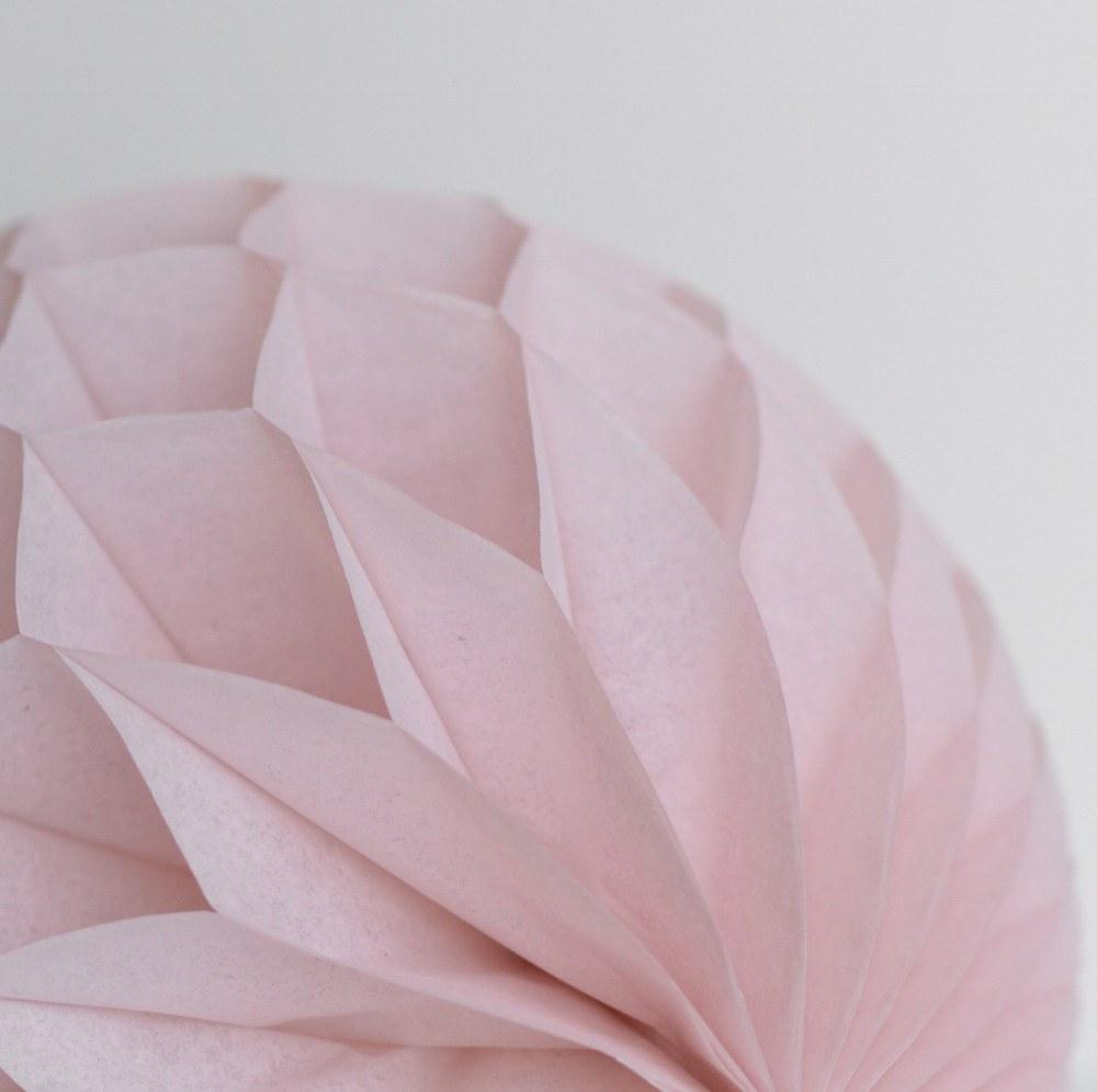 dusty blush tissue paper honeycomb hanging party decorations Dusty pink